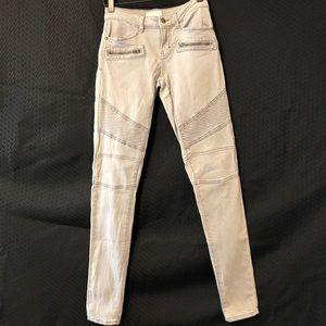 Sun & Shadow Gray Skinny Moto Jeans Size 1